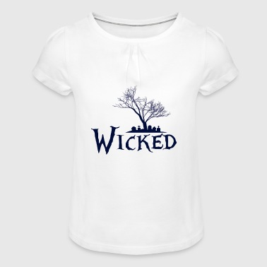 Wicked Wicked - Girl's T-Shirt with Ruffles
