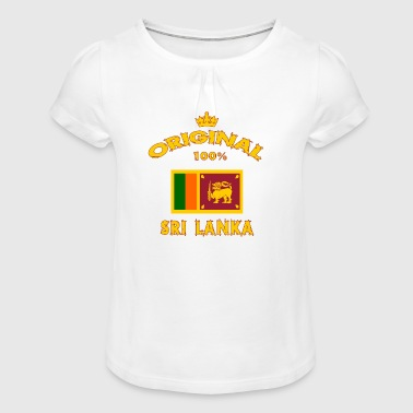 Sri Lanka Original 100% - Girl's T-Shirt with Ruffles