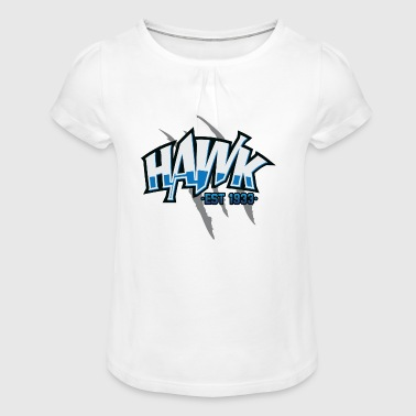 Hawk Hawk - T-shirt à fronces au col Fille