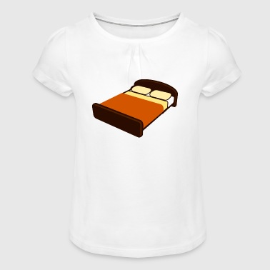 bed - Girl's T-Shirt with Ruffles