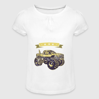 J'aime monstre cadeau Trucks I love - T-shirt à fronces au col Fille