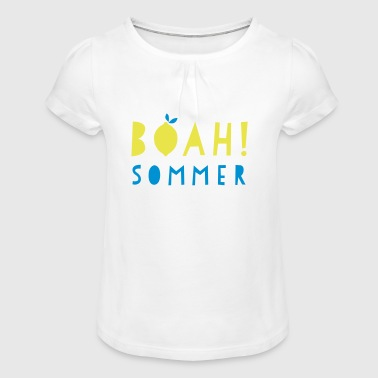 Whoa! summer - Girl's T-Shirt with Ruffles