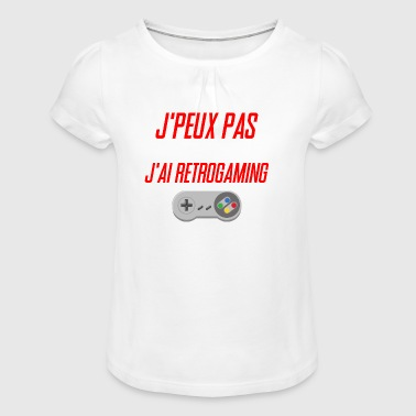 J'PEUX PAS J'AI RETROGAMING - T-shirt à fronces au col Fille