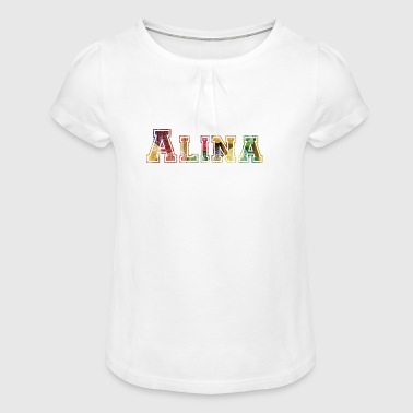 Alina, the brave. - Girl's T-Shirt with Ruffles