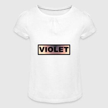 Violet - Girl's T-Shirt with Ruffles