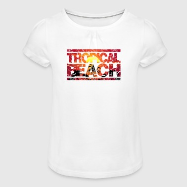 Tropical Beach Holiday Holiday Season Holiday Palms - Girl's T-Shirt with Ruffles