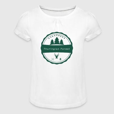Thuringian Forest - Girl's T-Shirt with Ruffles