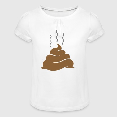 A Pile Of Shit - Girl's T-Shirt with Ruffles