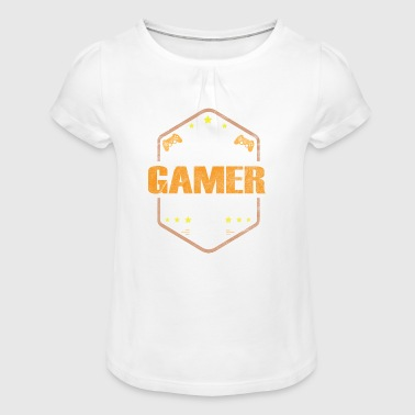 Shirt pervers Gamer - T-shirt à fronces au col Fille
