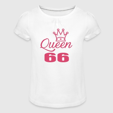 Queen 66 years old - Girl's T-Shirt with Ruffles