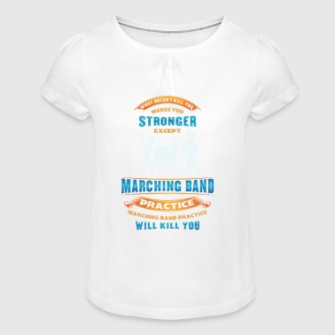 Fanfare Band - Mop Orchestra - Orchestra - Girl's T-Shirt with Ruffles