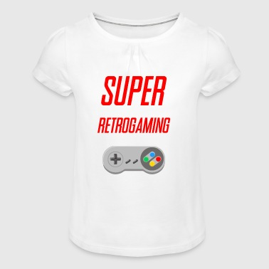 SUPER RETROGAMING - T-shirt à fronces au col Fille