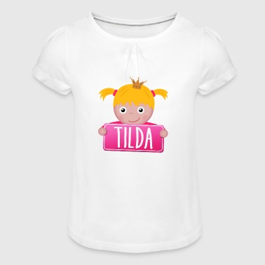 Little Princess Tilda - Girl's T-Shirt with Ruffles