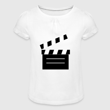 2541614 11414149 film flap - Girl's T-Shirt with Ruffles