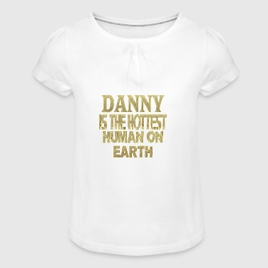 Danny - Girl's T-Shirt with Ruffles