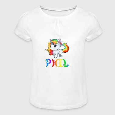 Einhorn Phil - T-shirt à fronces au col Fille