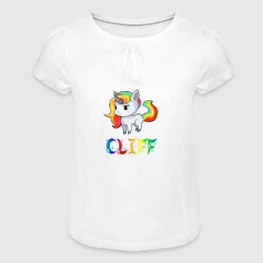 Unicorn Cliff - Girl's T-Shirt with Ruffles