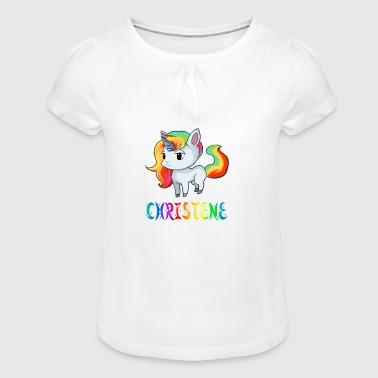 Unicorn Christene - Girl's T-Shirt with Ruffles