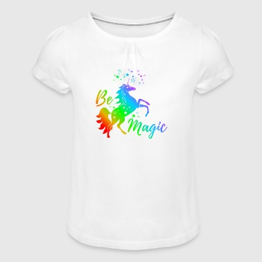Unicorn - Be Magic - Girl's T-Shirt with Ruffles
