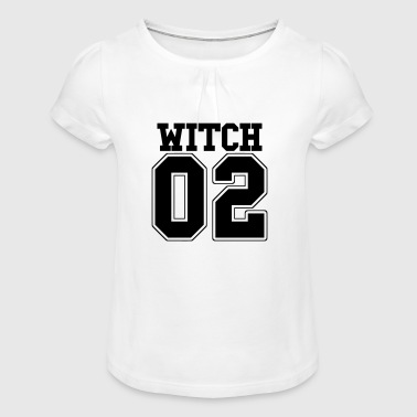 Witch 02 Funny BFF Halloween motive Witch part 2 - Girl's T-Shirt with Ruffles