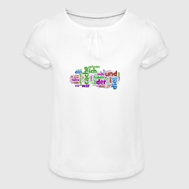 words - Girl's T-Shirt with Ruffles