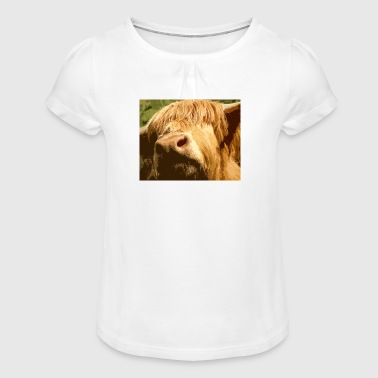 Gis a kiss - Girl's T-Shirt with Ruffles