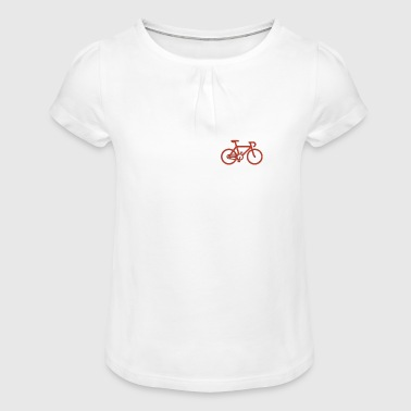 SMALL Bike red 001 - Girl's T-Shirt with Ruffles