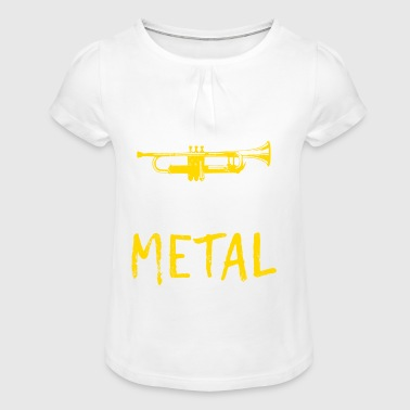 Spreadmusic2015 I PLAY HEAVY METAL - Girl's T-Shirt with Ruffles
