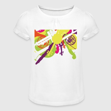 orchestra - Girl's T-Shirt with Ruffles