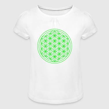 Life flower Flower of life Life is love - Girl's T-Shirt with Ruffles