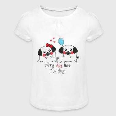 Dog Life - Dogs Day - Girl's T-Shirt with Ruffles