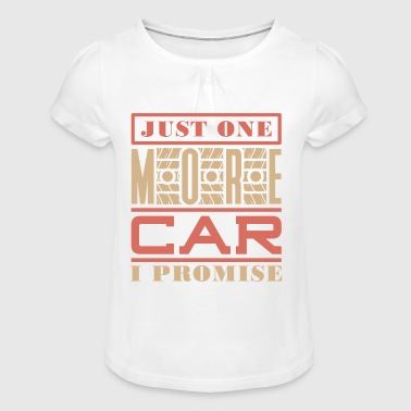 Car speed engine gasoline race - Girl's T-Shirt with Ruffles