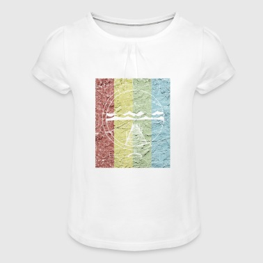 backpacking - Girl's T-Shirt with Ruffles