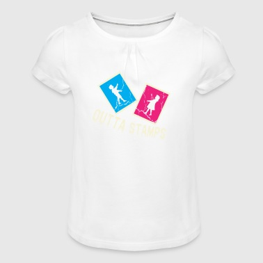 Stamps stamp - Girl's T-Shirt with Ruffles