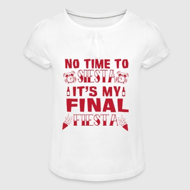 Husband marry bachelor farewell party - Girl's T-Shirt with Ruffles
