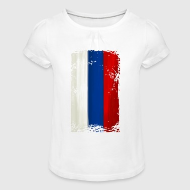 Serbia flag - Girl's T-Shirt with Ruffles
