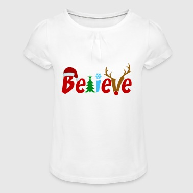 Christmassy Christmassy typography - Girl's T-Shirt with Ruffles