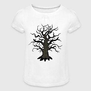 Celtic tree celtic tree - Girl's T-Shirt with Ruffles