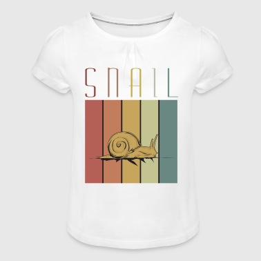 Escargot, escargot, escargot - T-shirt à fronces au col Fille