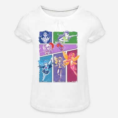 Poison Ivy DC Super Hero Girls Super-Héroïnes Collage - T-shirt à fronces au col Fille