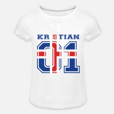 Kristian home roots name iceland island KRISTIAN - Girls' Ruffle T-Shirt