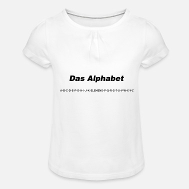 The alphabet (spoken) - Girls' Ruffle T-Shirt