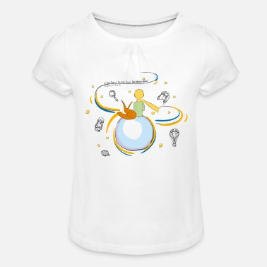 The Little Prince And Fox on Planet B612 - Girls' Ruffle T-Shirt