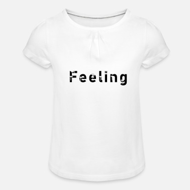 Sentiment sentiment - T-shirt à fronces Fille