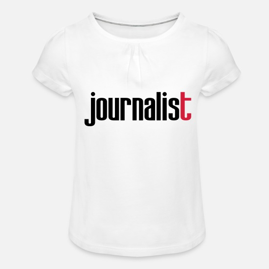 Journalist T-Shirts - Journalist - Girls' Ruffle T-Shirt white