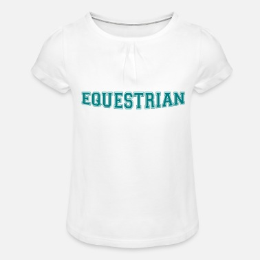 Writing Equestrian Writing - T-shirt à fronces Fille