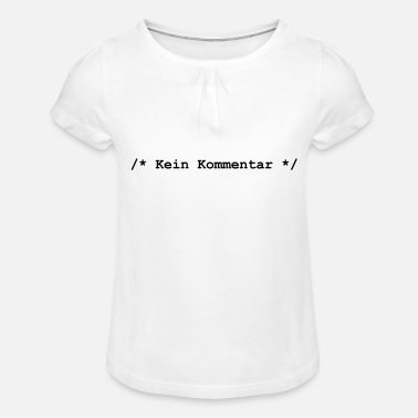 Comment No comment - Girls' Ruffle T-Shirt