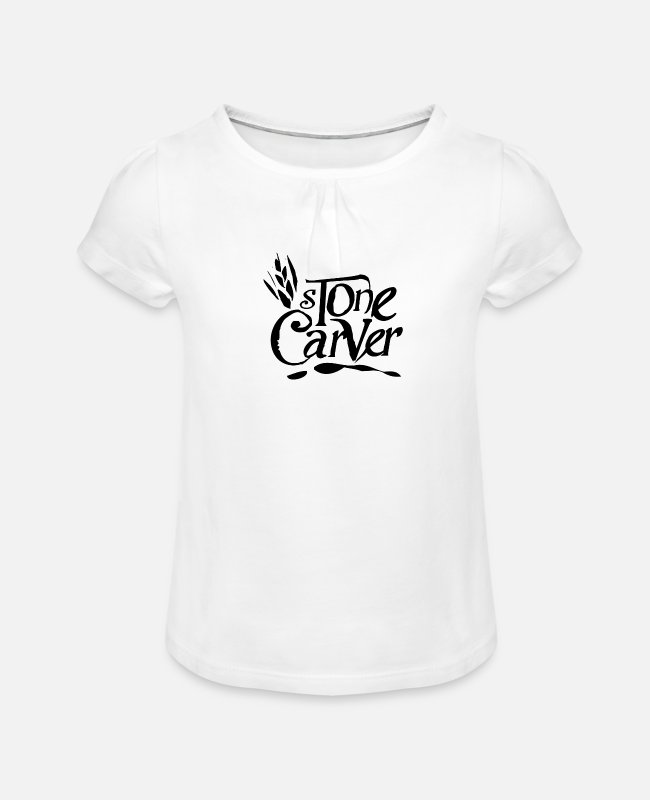Occupation T-Shirts - stonemason - Girls' Ruffle T-Shirt white