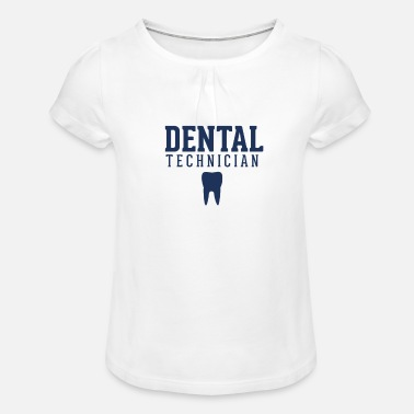 Dental Technician Dad Dental Technician Team Dental Technician Dental Technician - Girls' Ruffle T-Shirt