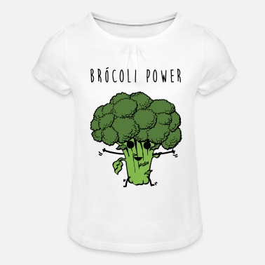 Brocoli Power - Girls' Ruffle T-Shirt